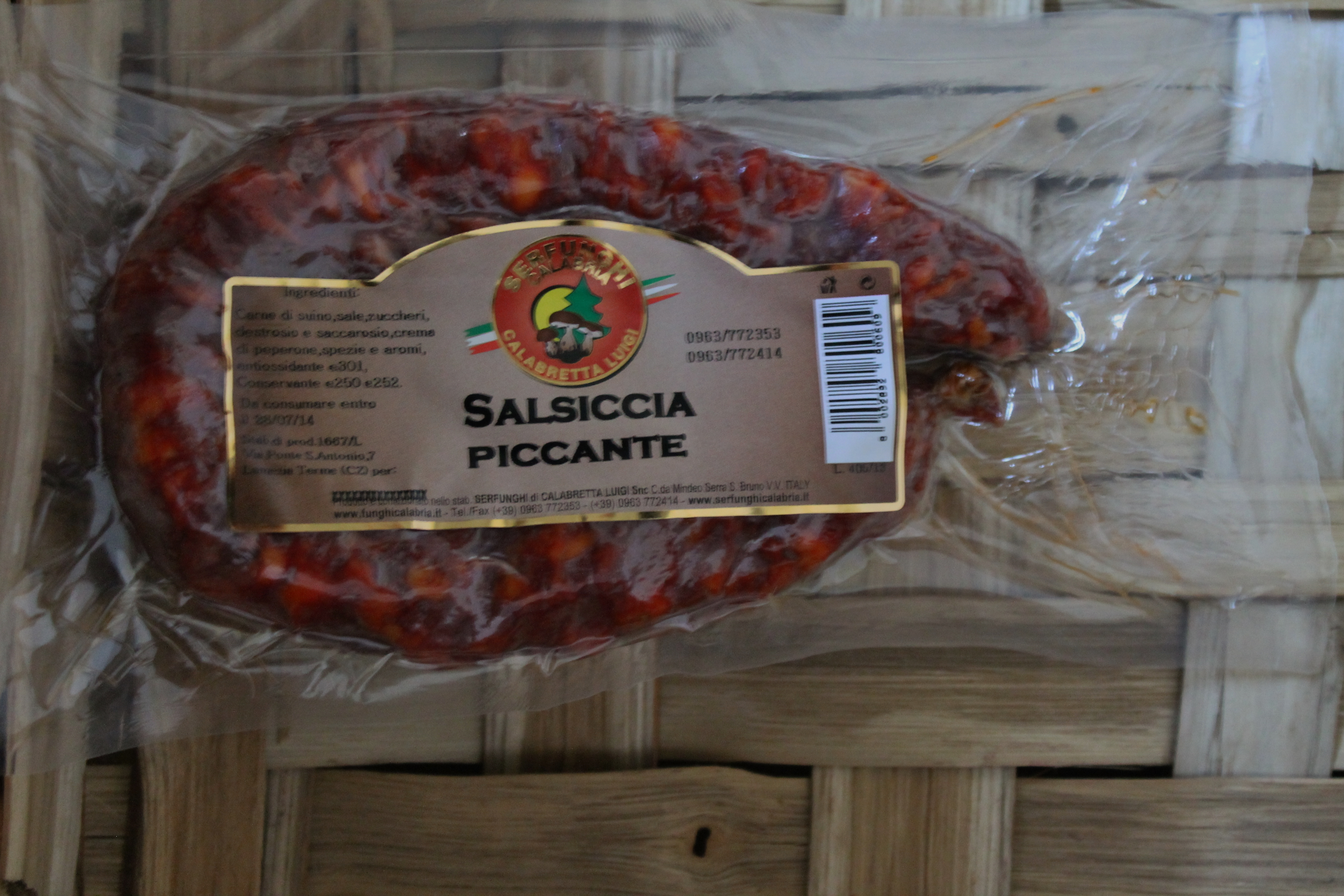 SALSICCIA PICCANTE E O DOLCE peso circa 330 gr