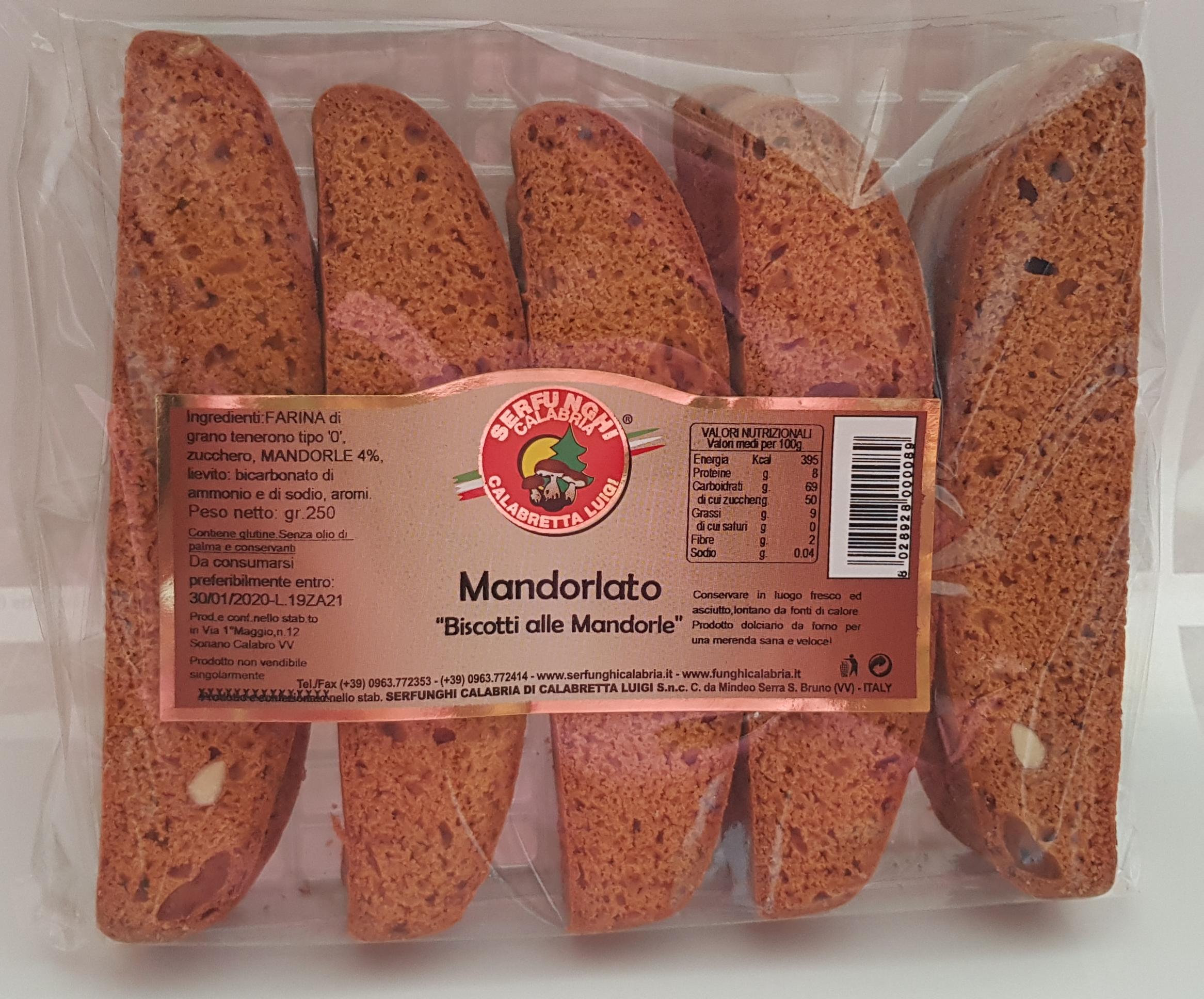 MANDORLATO ^^BISCOTTI ALLE MANDORLE^^ GR 250