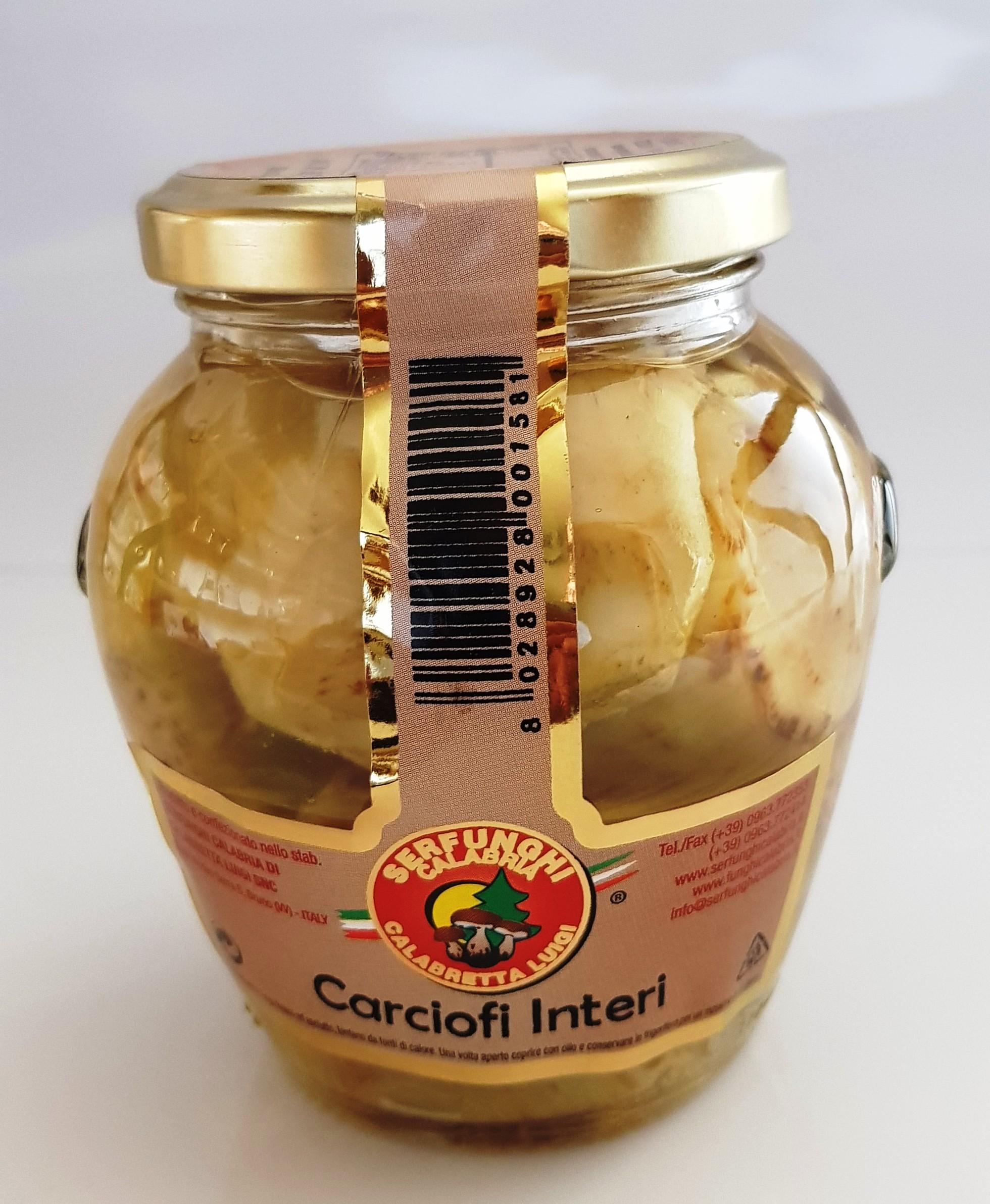 CARCIOFI INTERI ML 314/580